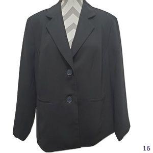 Kasper Separates Black Blazer Size 18W